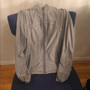LuLu Lemon long sleeve gray zip up size 12